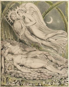 Illustration to Milton's Paradise Lost. William Blake (1808)