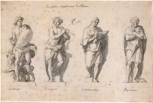 The Four Temperaments, Charles Lebrun (1619 – 1690)