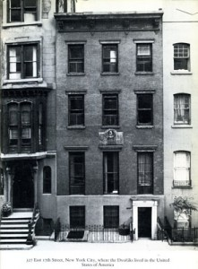 327 East 17th Street, New York City, Façade of house where the Dvořáks lived