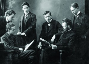 Bartók and Kodály with the members of the Waldbauer-Kerpely Quartet, March 1910
