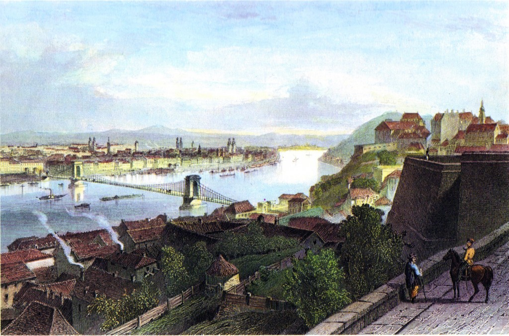 Buda and Pest ca. 1850, Adolphe Rouargue