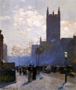 Lower Fifth Avenue (1890) by Frederick Childe Hassam