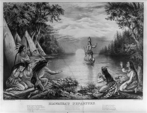 Song of Hiawatha by Henry Wadsworth Longfellow. Lithograph by Currier & Ives, 1865.