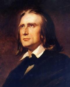 Franz Liszt by Wilhelm von Kaulbach (1856)