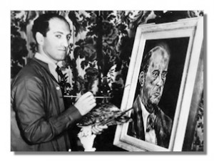 Gershwin painting Schoenberg (1937). Courtesy of www.classical.net