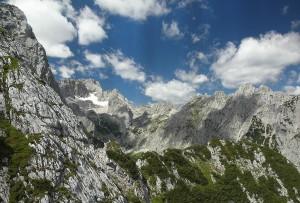 Wettersteingebirge mountain range, Bavarian Alps