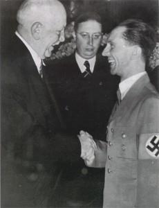 Joseph Goebbels and Richard Strauss, 1938.