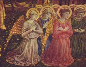 Praying Angels by Benozzo Gozzoli (1420-1497)