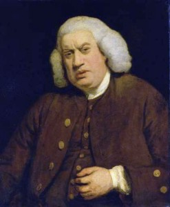Samuel Johnson by Joshua Reynolds (1771).
