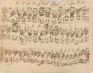 "Autograph manuscript of ""Ich ruf zu dir, Herr Jesu Christ"" BWV 639 from the Orgelbüchlein"
