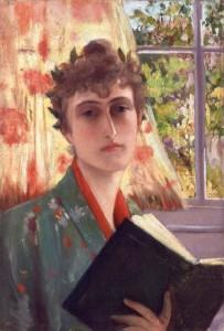 Princess Edmond de Polignac (née Singer). Autoportrait ca. 1885