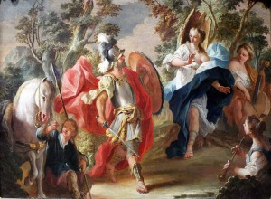 Rinaldo and Armida in the Magic Forest. Anton Kern (1734)
