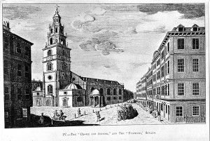 St Clement Danes and the Crown and Anchor Tavern