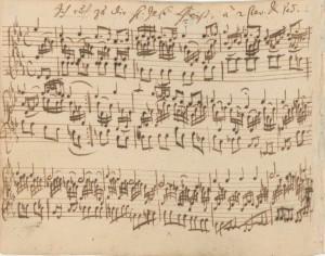 """Autograph manuscript of """"Ich ruf zu dir, Herr Jesu Christ"""" BWV 639 from the Orgelbüchlein"""